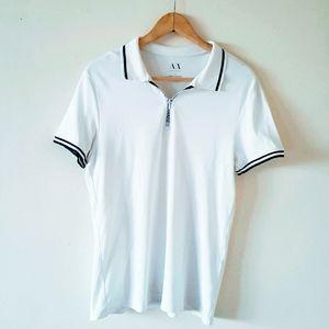 Armani Exchange Short Sleeved Polo T Shirt White L